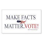 Make Facts Matter. Vote. Sticker (Rectangle 50 pk)