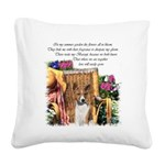Basenji Garden 4.png Square Canvas Pillow