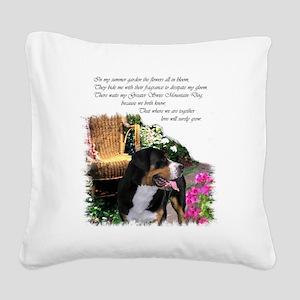 garden swissy 3 Square Canvas Pillow