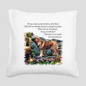 Leonberger Art Gifts Square Canvas Pillow