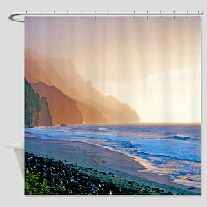 Kalalau Beach Sunset Tropical Shower Curtain