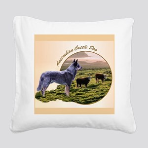 Australian Cattle Dog Square Canvas Pillow