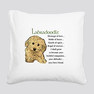 Labradoodle Square Canvas Pillow