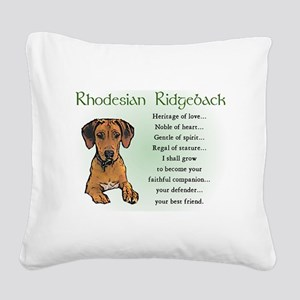 Rhodesian Ridgeback Square Canvas Pillow