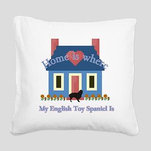 English Toy Spaniel Square Canvas Pillow