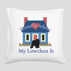 Lowchen Square Canvas Pillow