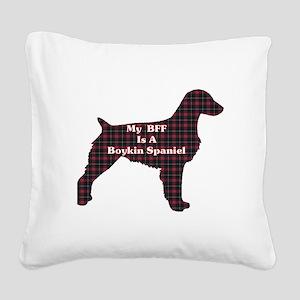 BFF Boykin Spaniel Square Canvas Pillow
