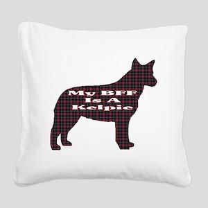 BFF Australian Kelpie Square Canvas Pillow