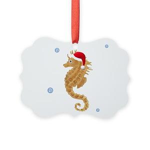 seahorse ornaments cafepress - Seahorse Christmas Ornament