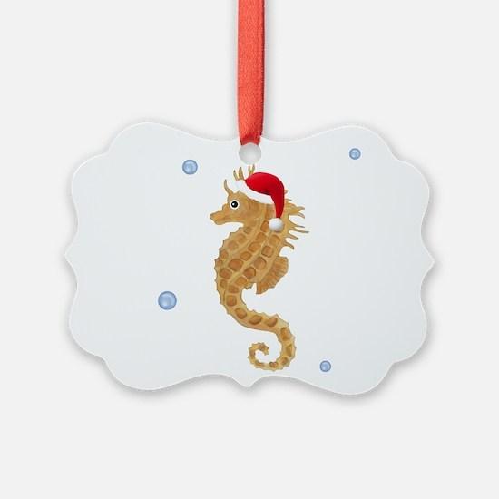 Santa Seahorse Ornament