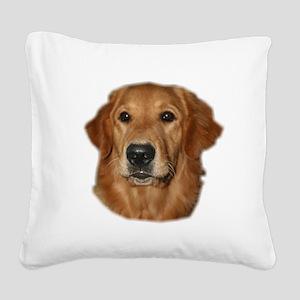 golden head study Square Canvas Pillow