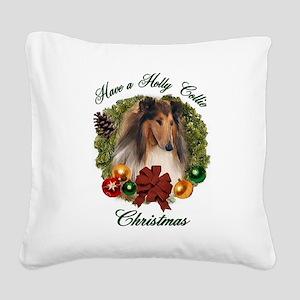Christmas darin apparel Square Canvas Pillow