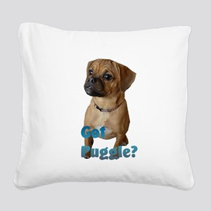 puggle art 2 Square Canvas Pillow