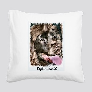 boykin framed Square Canvas Pillow