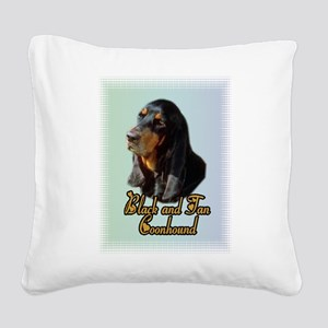 Coonhound_1 Square Canvas Pillow