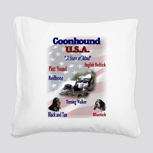 coonhound variety ssquare redo Square Canvas P