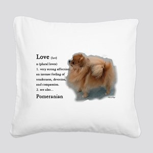 Pomeranian Lovers Gifts Square Canvas Pillow