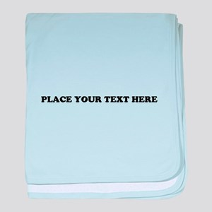 Add Text One Line baby blanket