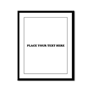 Add Text One Line Framed Panel Print