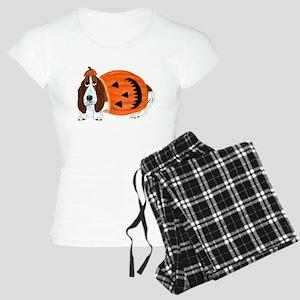 Basset Hound In Pum... Women's Light Pajamas