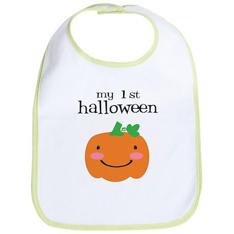 my first halloween bi cotton baby bib my first halloween bib cafepresscom