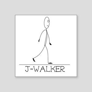 "J-Walker Square Sticker 3"" x 3"""