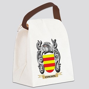 Cameron Family Crest - Cameron Co Canvas Lunch Bag