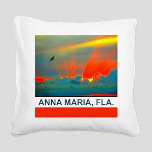 Bright sunset over Anna Maria Island Square Canvas