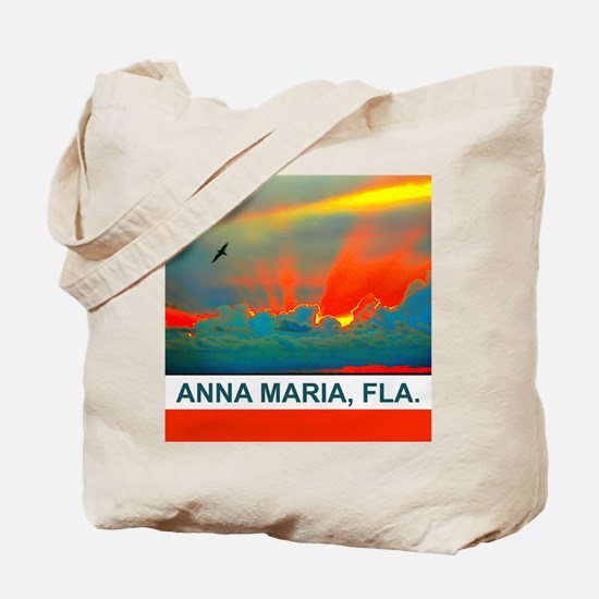 Bright sunset over Anna Maria Island Tote Bag