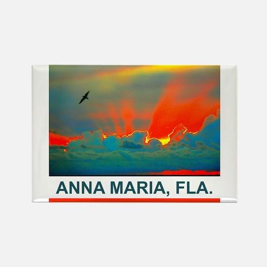 Bright sunset over Anna Maria Island Rectangle Mag
