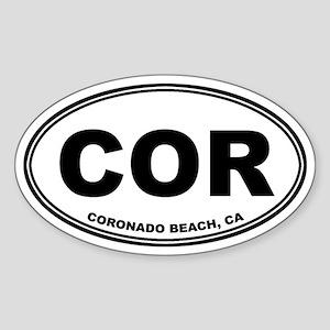 Coronado Beach, CA Oval Sticker