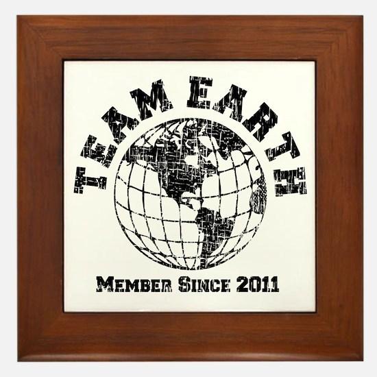 Team Earth : Member Since 2011 Framed Tile