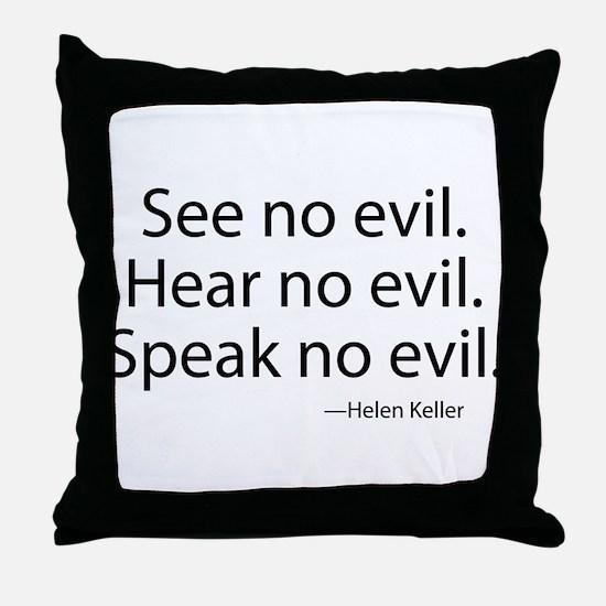 See no evil. Hear no evil. Speak no evil. Throw Pi