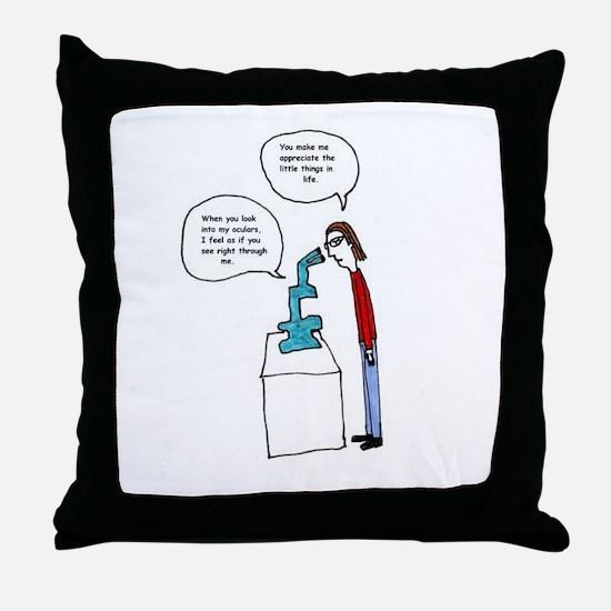 Microscope Love Throw Pillow