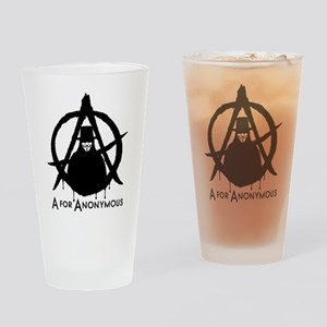 A for Anonymous Drinking Glass