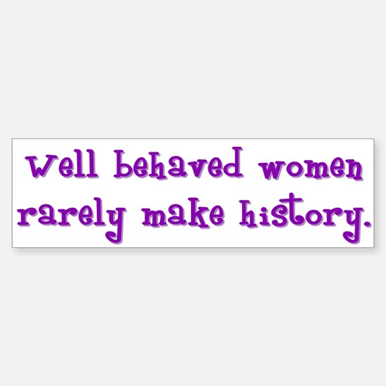 Women Make History Bumper Bumper Bumper Sticker