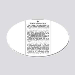 Masonic Membership Card 20x12 Oval Wall Decal