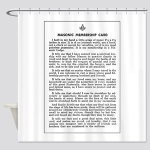Masonic Membership Card Shower Curtain