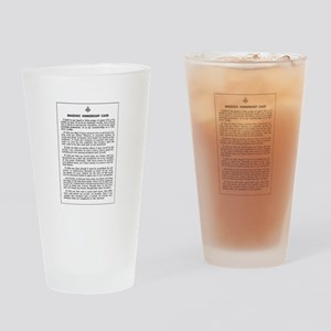 Masonic Membership Card Drinking Glass