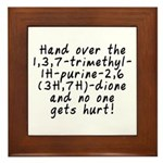 Hand over the caffeine - Framed Tile