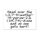 Hand over the caffeine - 20x12 Wall Decal