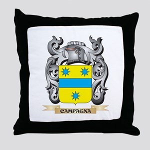 Campagna Family Crest - Campagna Coat Throw Pillow