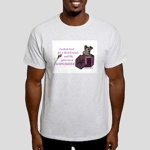 Schnauzer (Black) Ash Grey T-Shirt