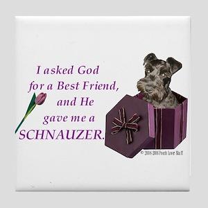 Schnauzer (Black) Tile Coaster