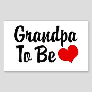 Grandpa To Be Rectangle Sticker