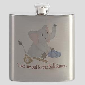 Baseball - Elephant Flask