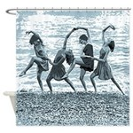Vintage Women Beach Dance Shower Curtain