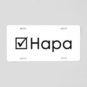 Check Hapa Aluminum License Plate