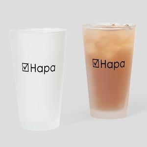 Check Hapa Drinking Glass