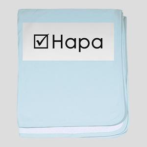 Check Hapa baby blanket